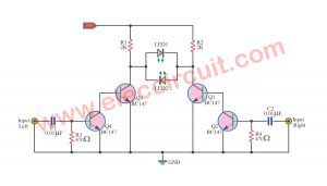 Balance display circuit by BC147