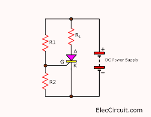 Get trigger current from a single power supply with divider resistors