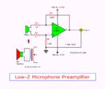 Low-Z impedance Dynamic Microphone Preamplifier using TL084
