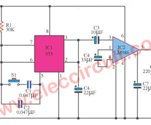 Noise Generator 2 Frequency Circuit using IC-555