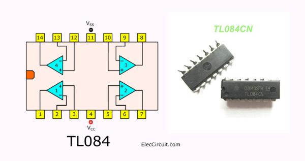 TL084 pinout datasheet