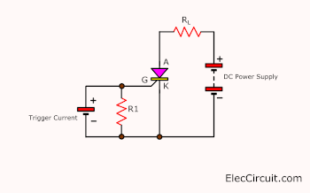 Trigger current is separate from the power supply