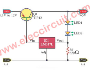 LM317 Low dropout regulator 5V 2A using TIP41