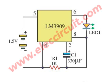 Fast LED flashing 1.5V