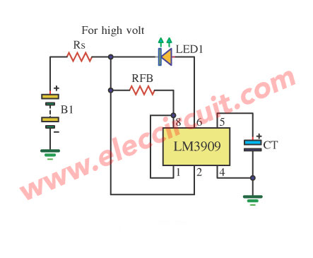 LED Display for power supply 6V or 15V by LM3909