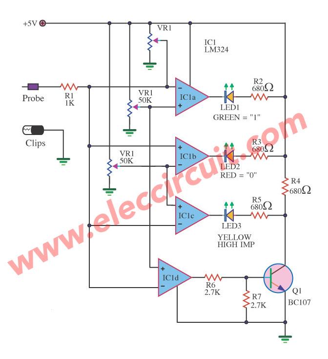 Fantastic Logic Probe Circuit Diagram Basic Electronics Wiring Diagram Wiring Digital Resources Bemuashebarightsorg