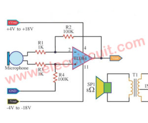Pre Microphone low impedance using TL084