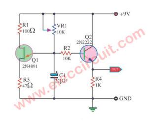 Ramp  Generator circuit using  2N4891 FET