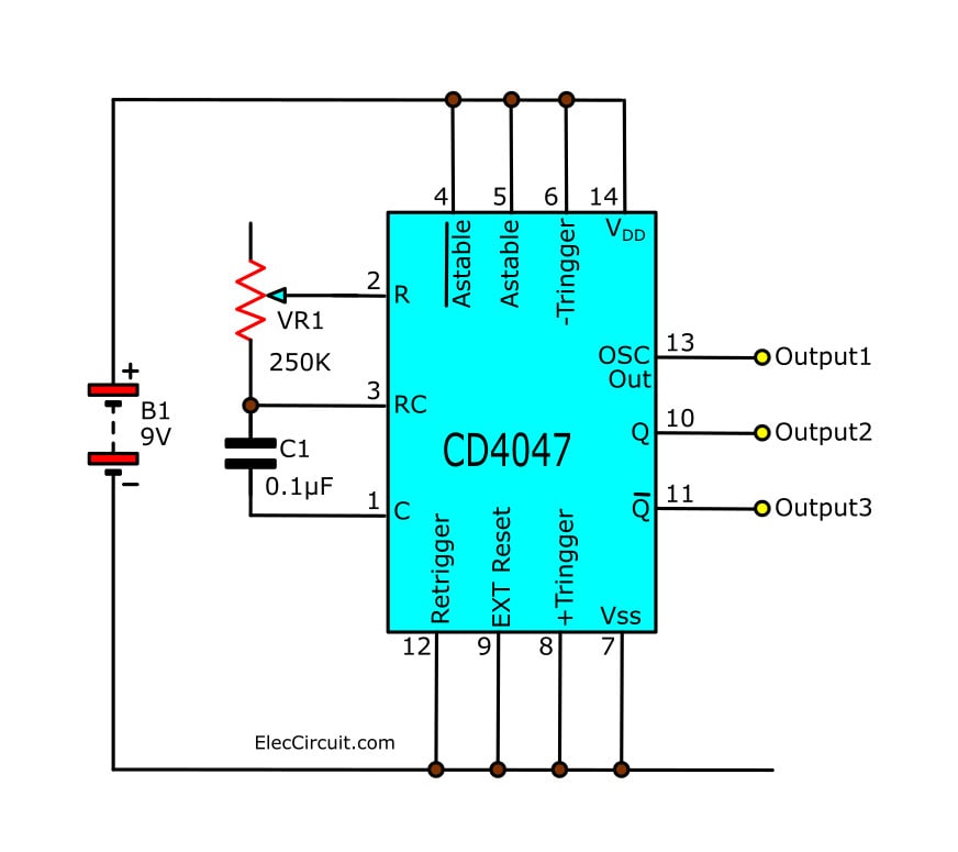 simple-astable-multivibrator-circuit-using-cd4047-cmos-ic