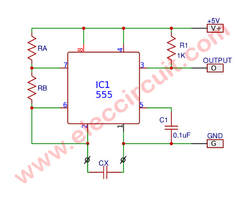simple capacitance measurement circuit using ic 555Simple Dc Converter For Digital Circuit By Ic 555 #7