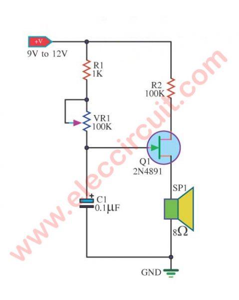 Tone Generator Circuit using 2N4891