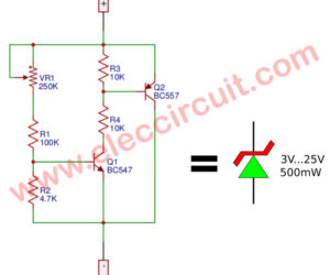 Variable zener diode circuit