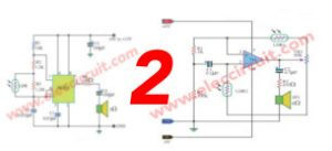 2 Light controlled tone generator circuits