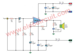 25W HI-FI power amplifier using LM1875