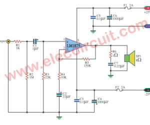 LM1875 Datasheet – 25W HIFi audio amplifier circuit