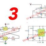 Three bounceless switch circuit using digital IC