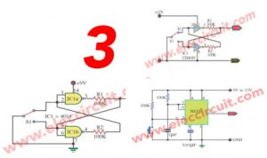 3 Simple Bounceless switch circuits using Digital IC
