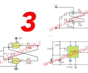 Three bounceless switch circuit using digital IC