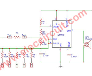 555 audio simple ohmmeter circuit