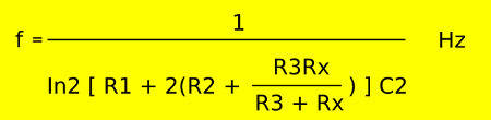 Calculate for 555 audio simple ohmmeter circuit