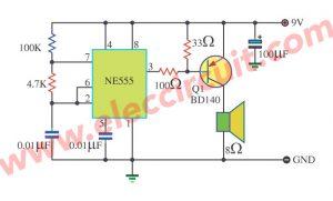 The danger beep circuit using IC-555