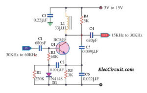 Simple Frequency Divider using one transistor BC549