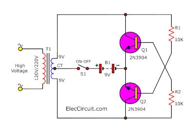 Small High Volts shock using 2SC1815 transistor