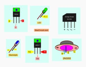 important polarity components of 3A power supply using LM317