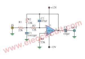 diode tester circuit using ic 741 and led eleccircuit com rh eleccircuit com