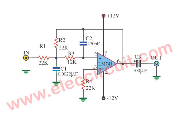 Wondrous Low Pass Audio Filter Circuit Basic Electronics Wiring Diagram Wiring Digital Resources Remcakbiperorg