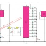 Mini LED roulette game circuit using Digital IC