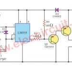 Spot lamp dimmer circuit using LM555 and TIP2955