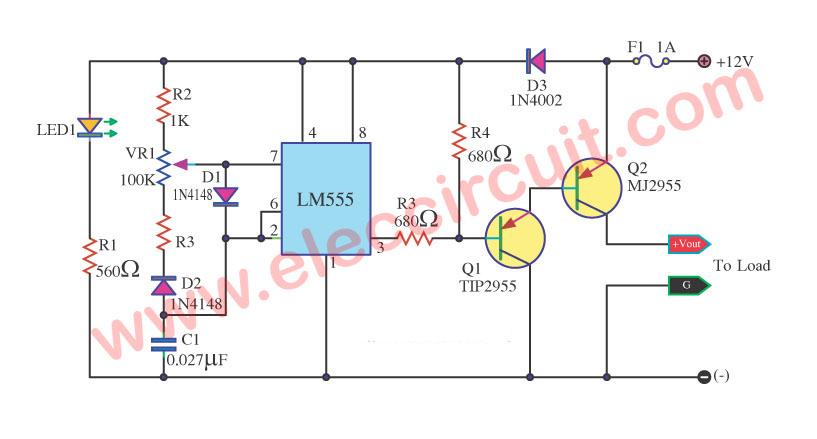 led lamp dimmer circuit diagram