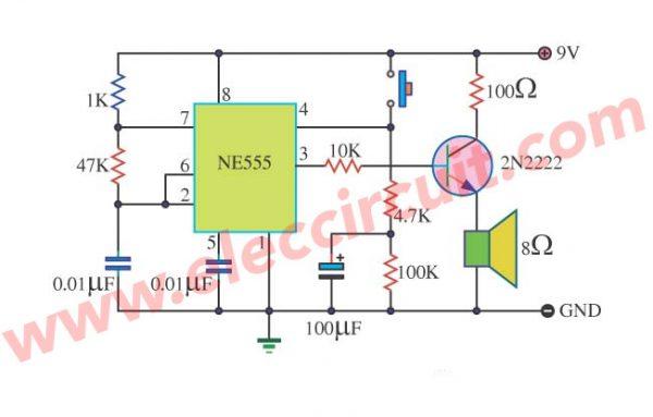 Tone Burst Generator using LM555