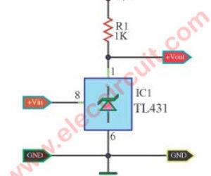 Voltage detector circuit using  TL431