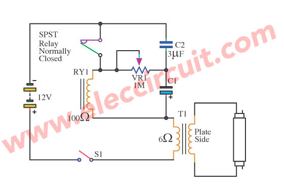 Fluorescent Driver With 6v 12v Battery