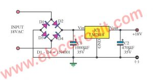 18V DC power supply circuit using LM7818