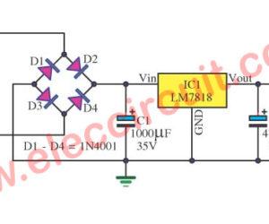 18V DC power supply circuit using LM7818