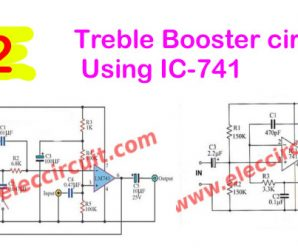 Treble Booster circuit using IC-741
