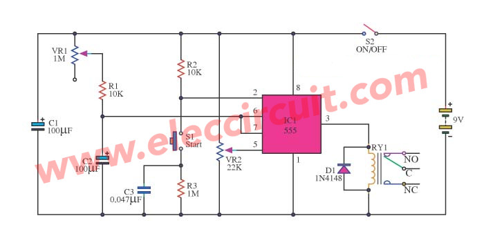 monostable multivibrator using 555 timer rh eleccircuit com