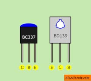 BC337 and BD139 pinout