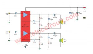 IC amplifier stereo 10W +10W with ic TDA2009