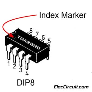 TDA2822 of DIP-8