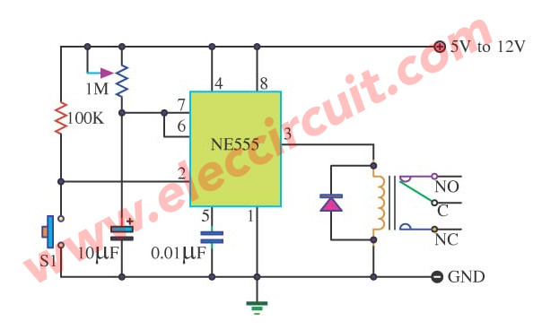 Basic Timer Control with NE555