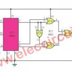 Door buzzer sound circuit using CD4001-CD4060