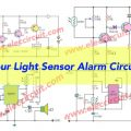 Four Light Sensor Alarm Circuits
