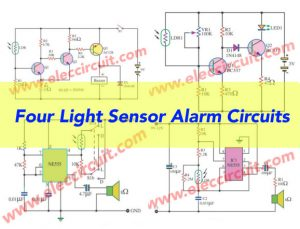 Four Light Sensor Alarm Circuits