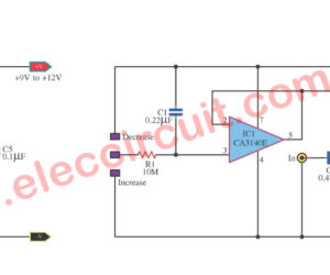 Remote and Touch volume control circuit using IC-MC3340P