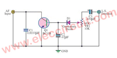 Simple AGC for radio receiver