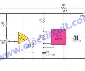 Simple Timer circuit using CA3140 + NE555
